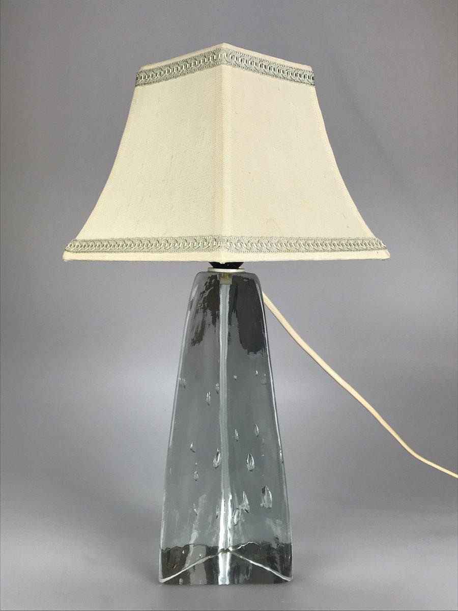 deutsche vintage tischlampe aus glas bei pamono kaufen. Black Bedroom Furniture Sets. Home Design Ideas