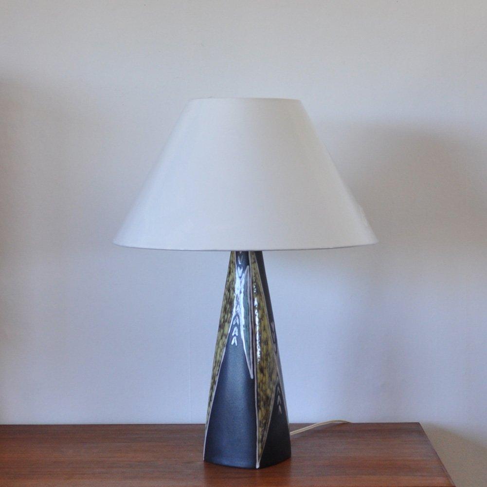 Große Tischlampe aus Keramik von Svend Aage Jensen für Søholm, 1950er