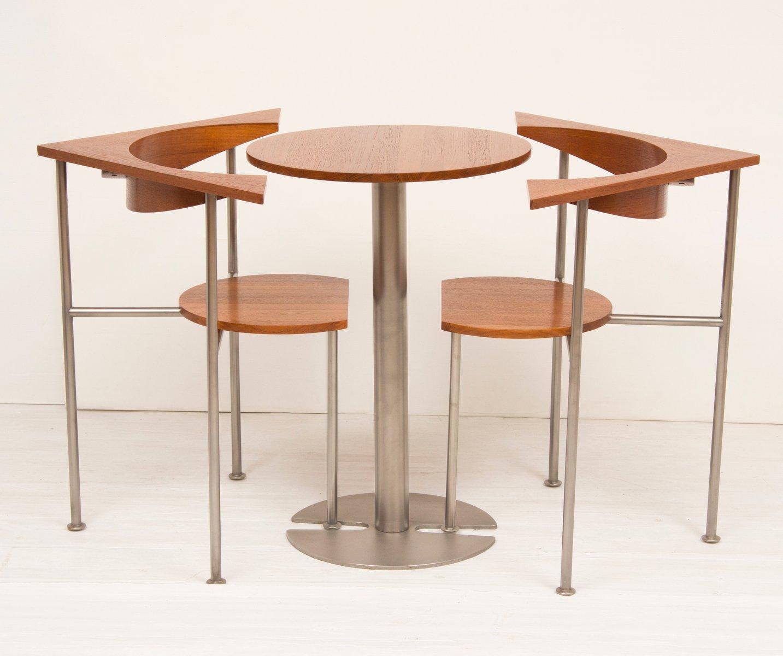 Tisch & 2 Stühle aus Teak von Frans Schrofer für Lister Furniture, 196...