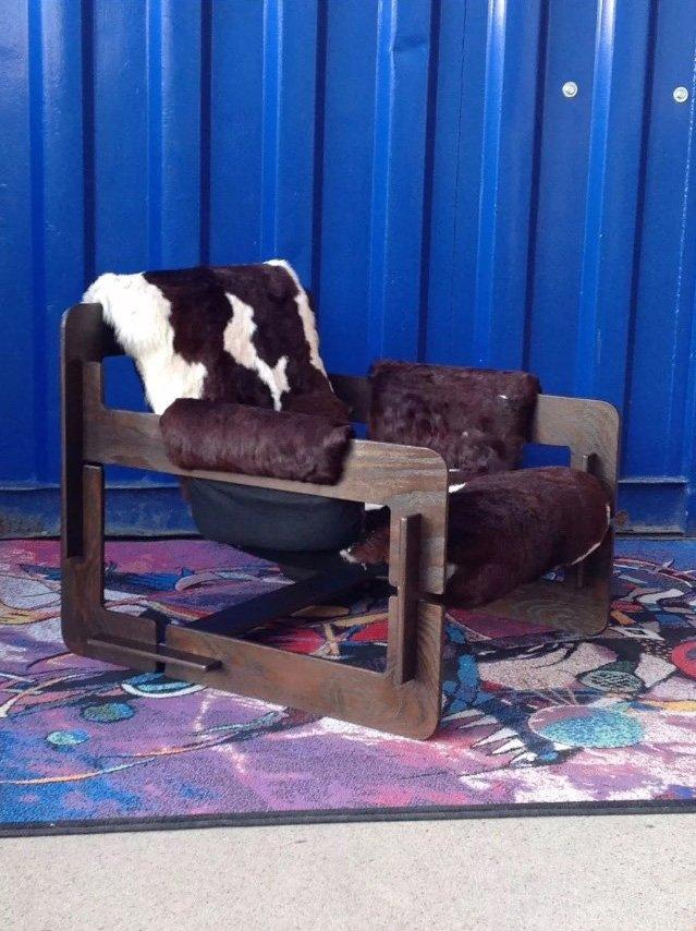 Rover Puzzle Sessel mit Rindsleder von Arne Jacobsen für Asko, 1960er