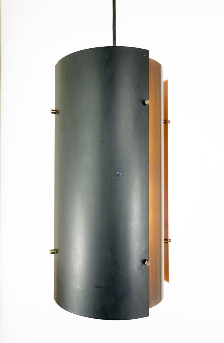 h ngelampe in schwarz kupfer von fog m rup 1970er bei. Black Bedroom Furniture Sets. Home Design Ideas