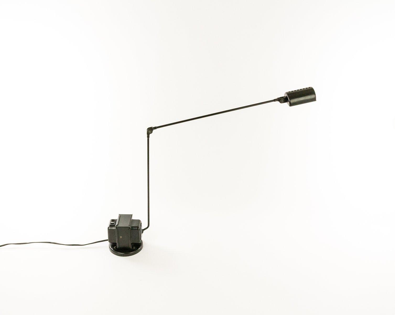 Schwarze Daphine Tischlampe von Tommaso Cimini für Lumina, 1970er