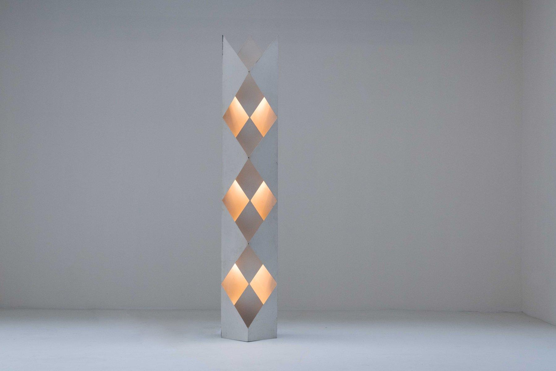 Architektonische Totem Stehlampe, 1970er