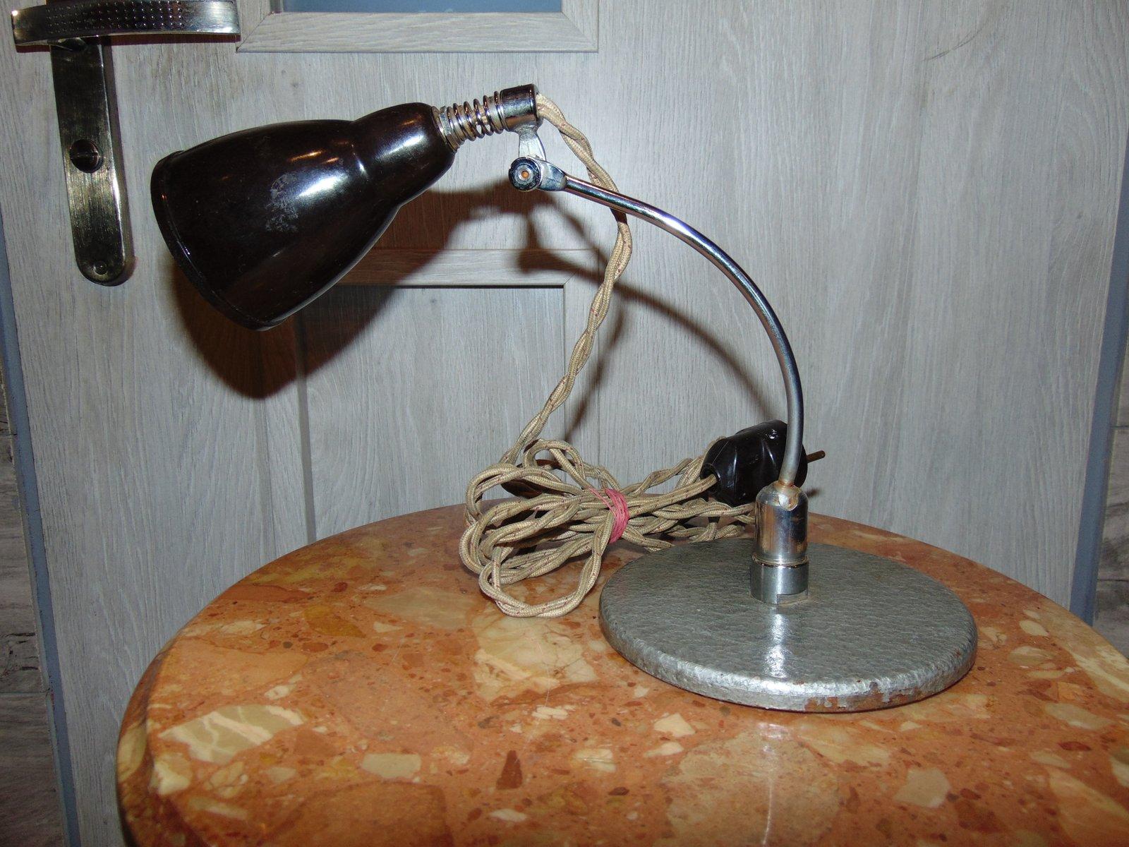 Industrielle Vintage Lampe aus Bakelit, 1940er