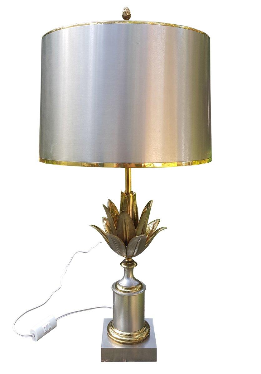 Französische Artischocken Tischlampe aus Messing von Maison Jansen, 19...
