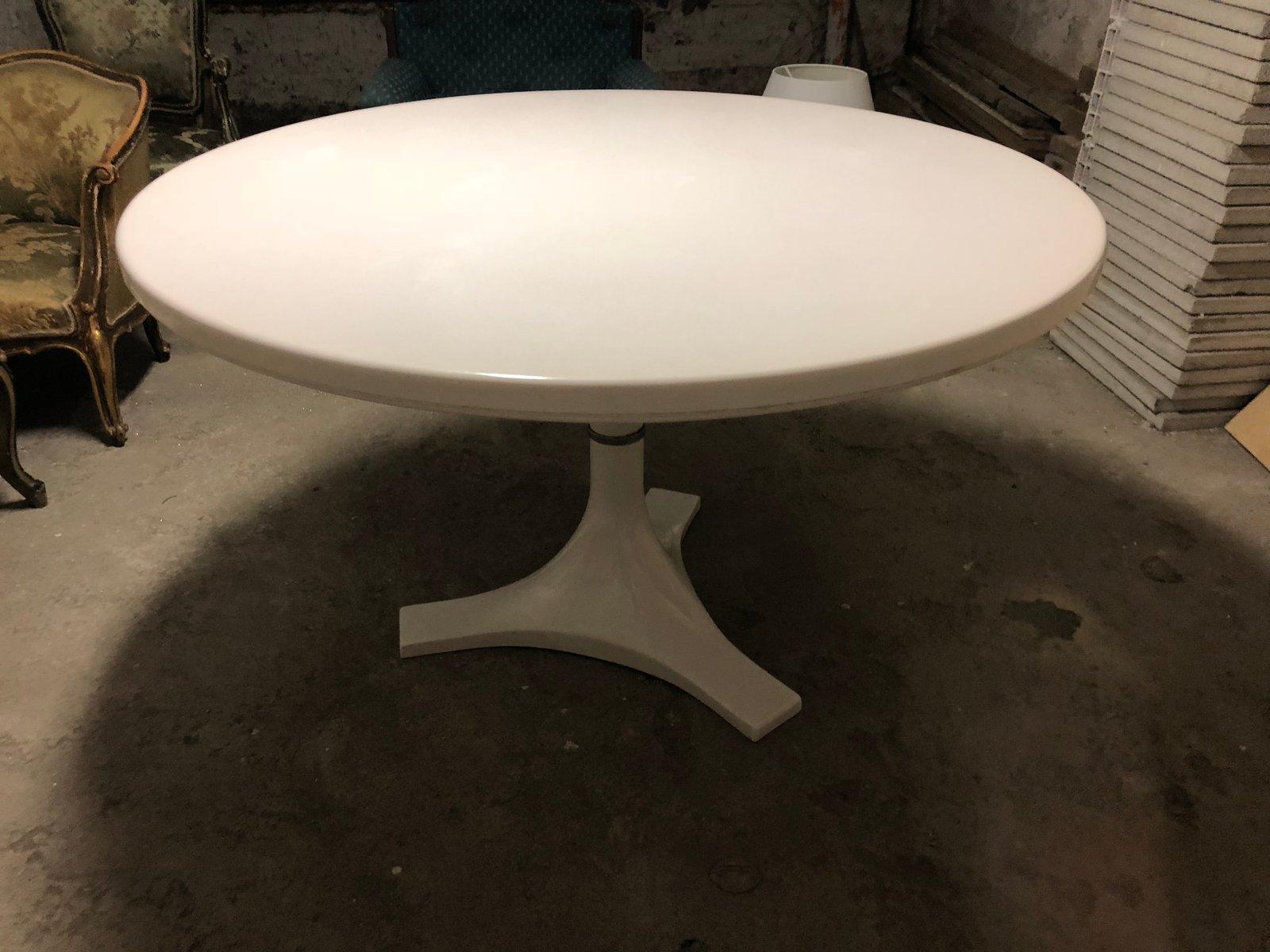 Runder weißer 4993 Tisch von Ignazio Gardella & Castelli für Kartell, ...