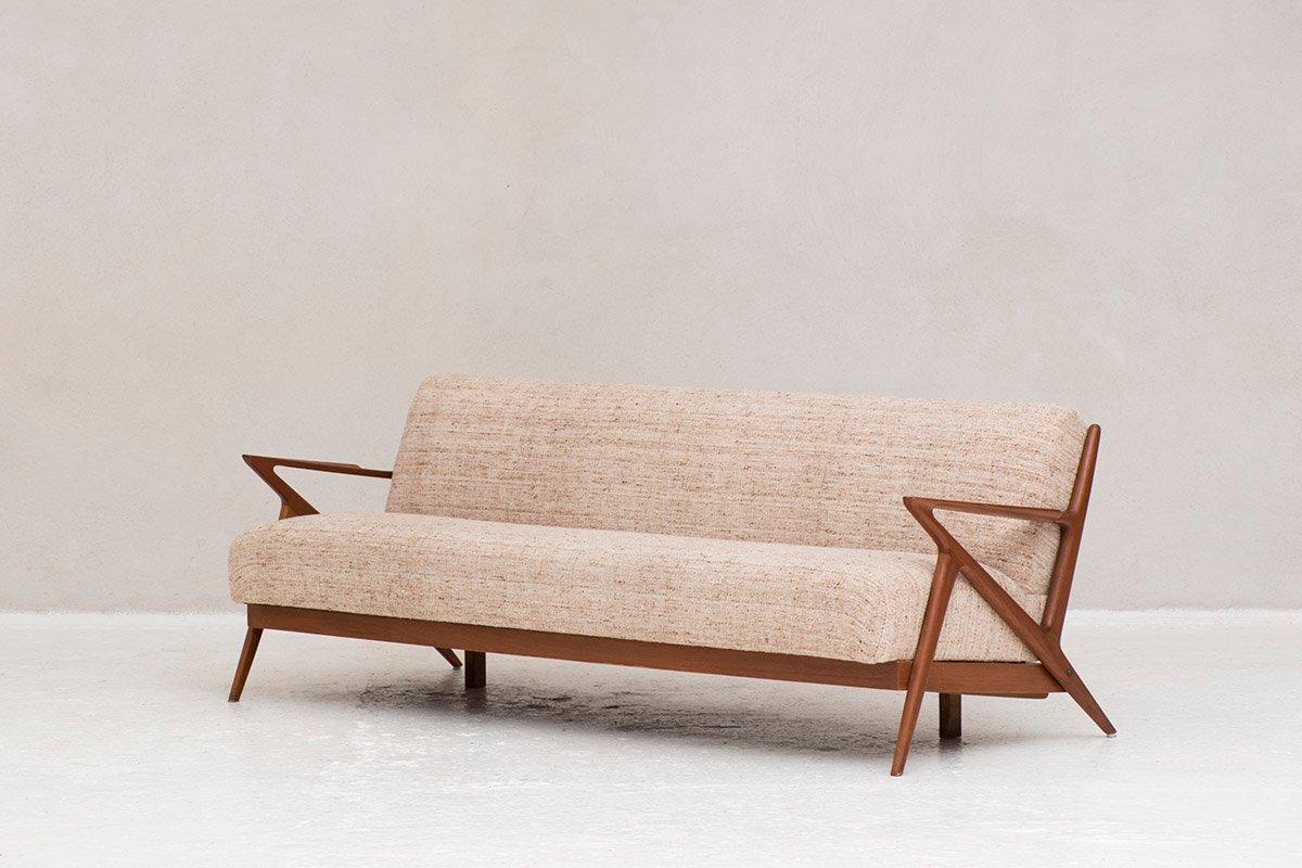 3-Sitzer Sofa/Schlafsofa von Poul Jensen für Selig, 1950er