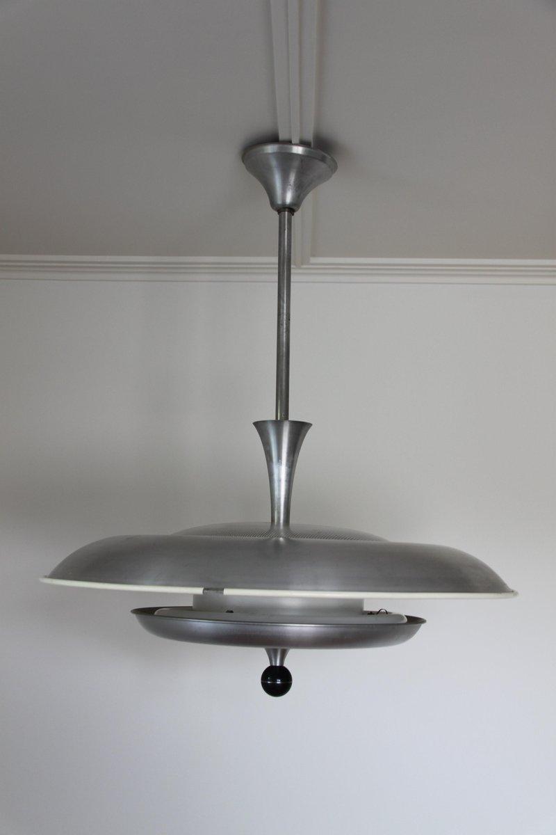 Space Age Deckenlampe aus Aluminium von Niba, 1960er