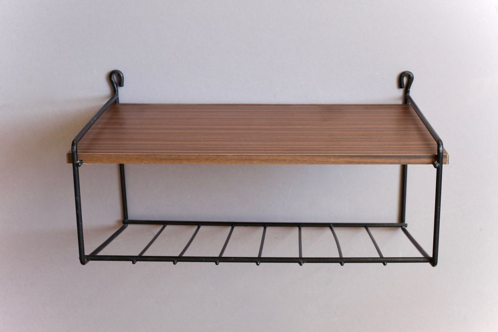 Small Mid Century Wall Shelf For Sale At Pamono