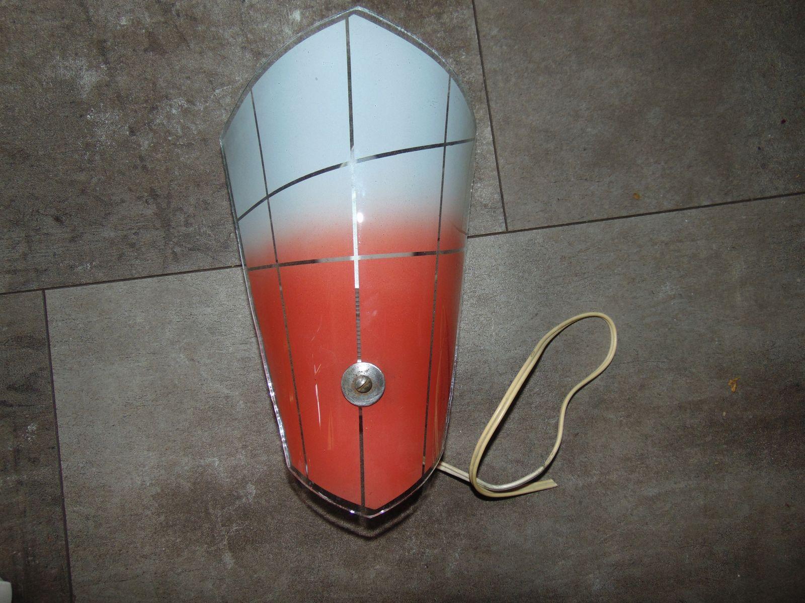 Polnische Wandlampe aus Glas, 1960er