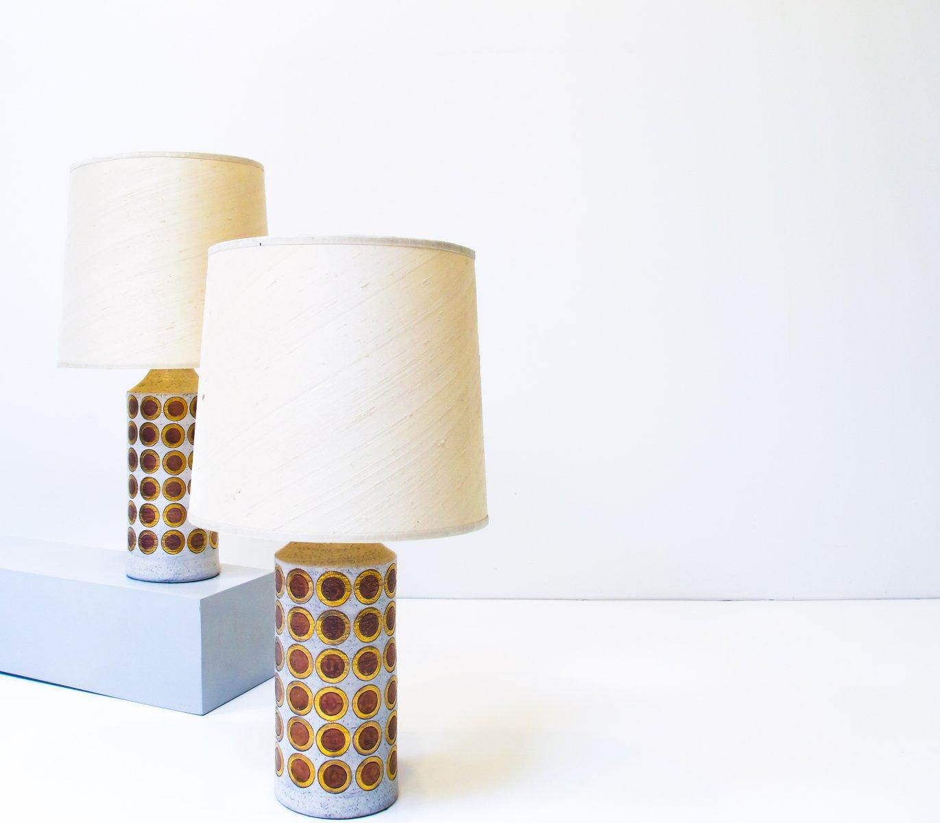Vintage Tischlampen von Aldo Londi für Bitossi, 2er Set