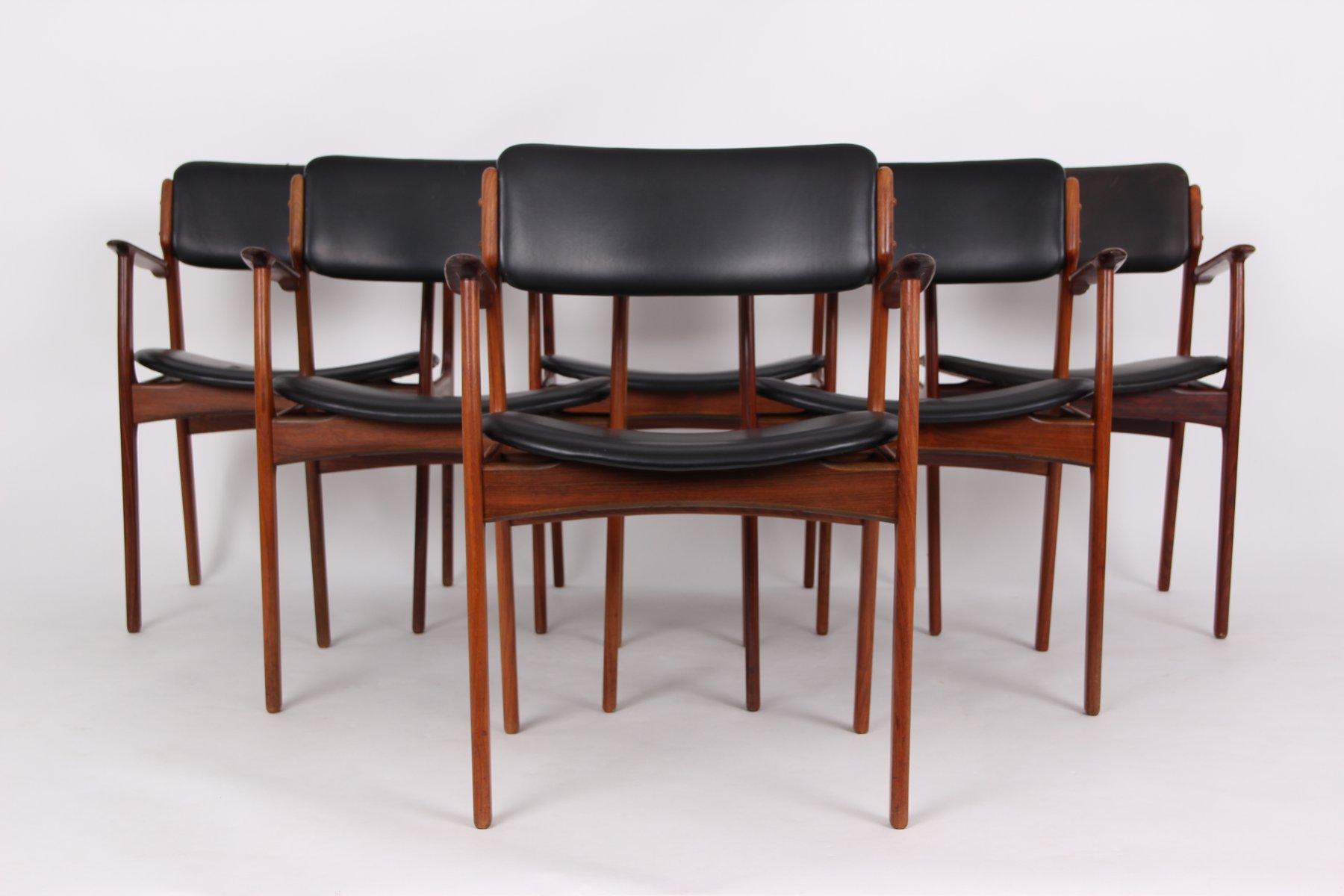 Vintage Modell 49 Chairs aus Palisander von Erik Buch für O D M¸bler 6er Set