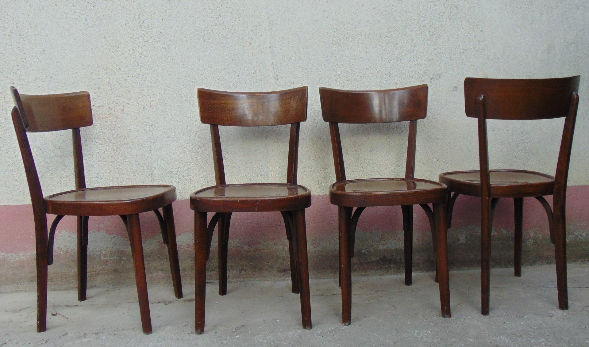 Sedie da osteria in legno anni set di in vendita su pamono