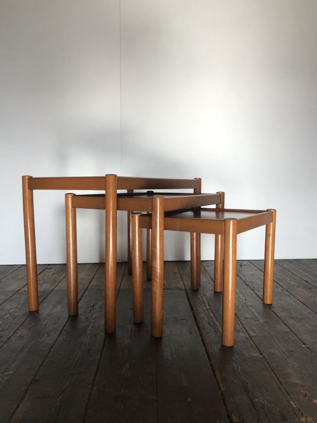 Mid century beech teak nesting tables from habitat for sale at pamono mid century beech teak nesting tables from habitat watchthetrailerfo