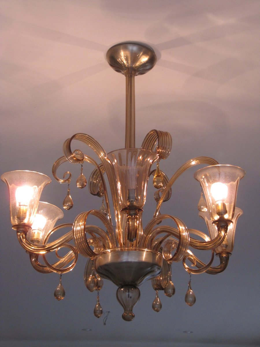 Murano chandelier 1950s for sale at pamono murano chandelier 1950s aloadofball Gallery