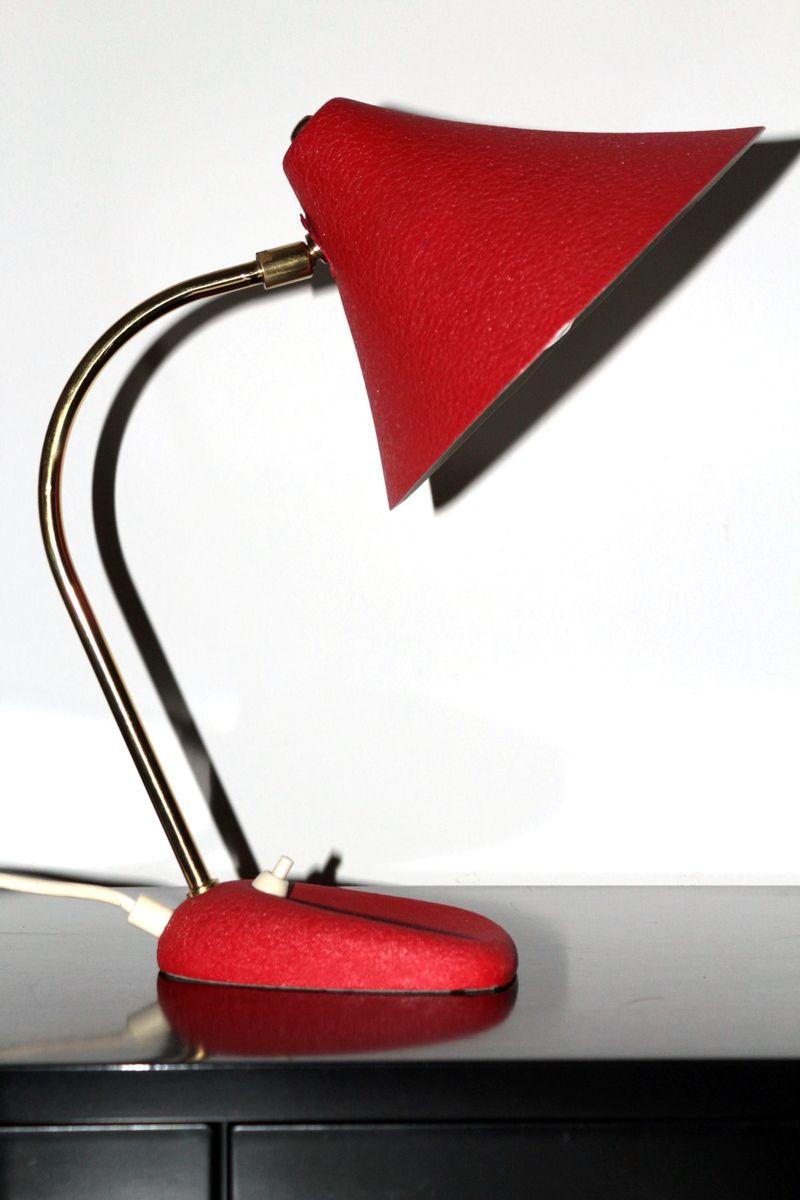 Tischlampe von Moletz Leuchten, 1950er