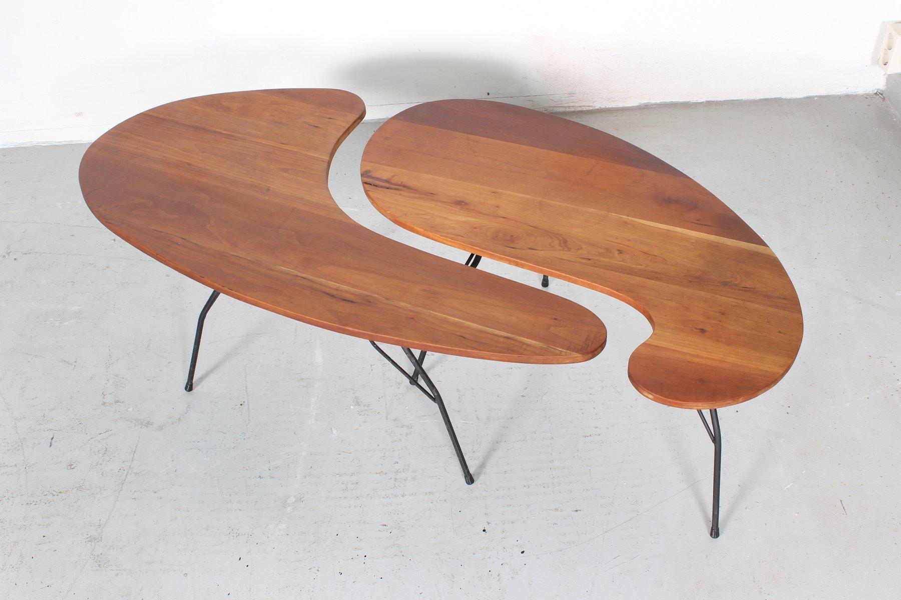 tables dappoint vintage en merisier massif set de 2 - Table Merisier Massif