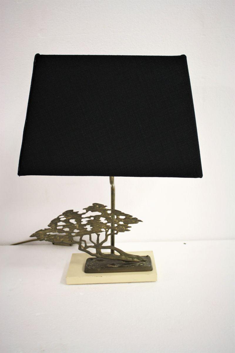 Messing Bonsai Tischlampe von Willy Daro für Massive, 1970er
