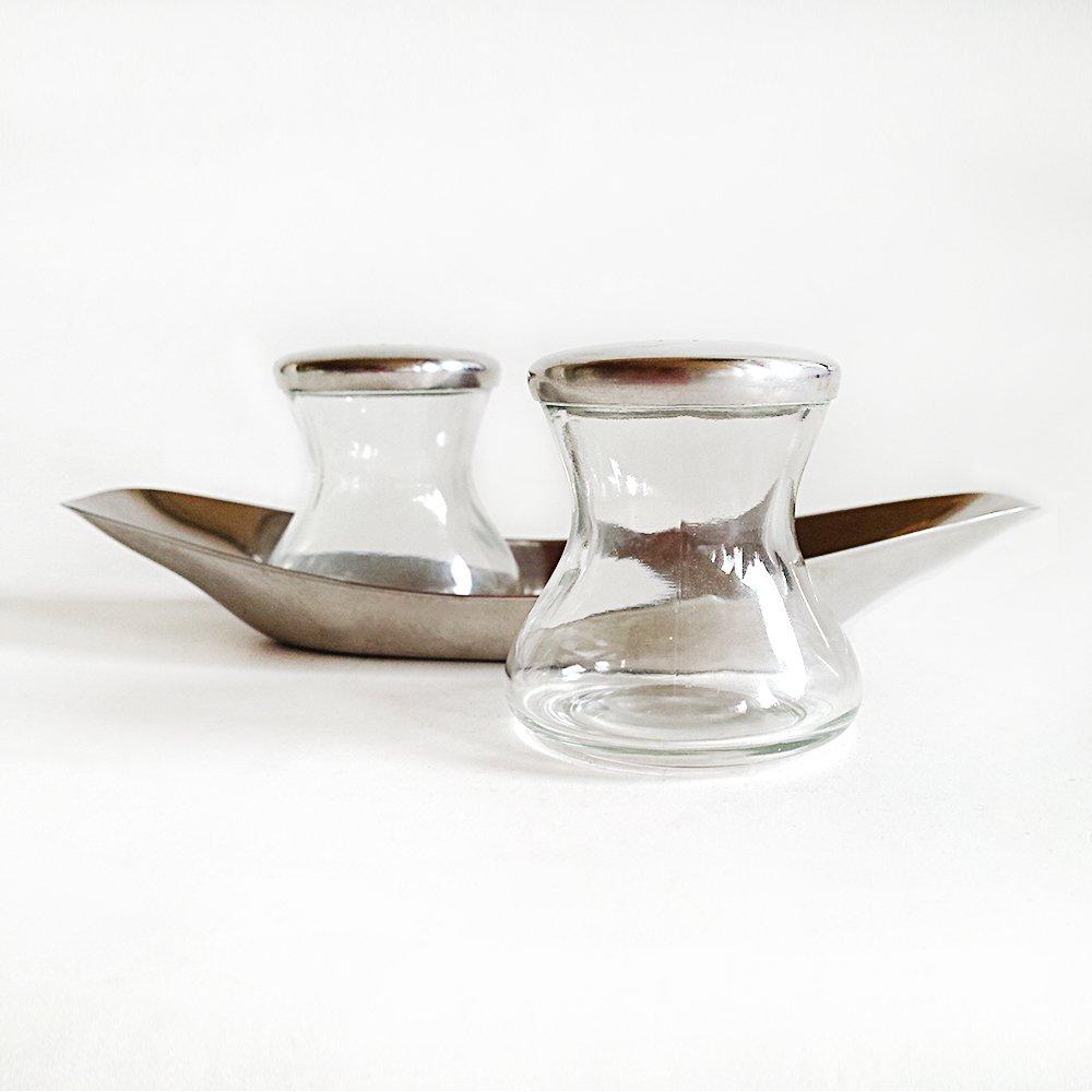 max moritz salz pfeffer streuer von wilhelm wagenfeld f r wmf 1950er bei pamono kaufen. Black Bedroom Furniture Sets. Home Design Ideas