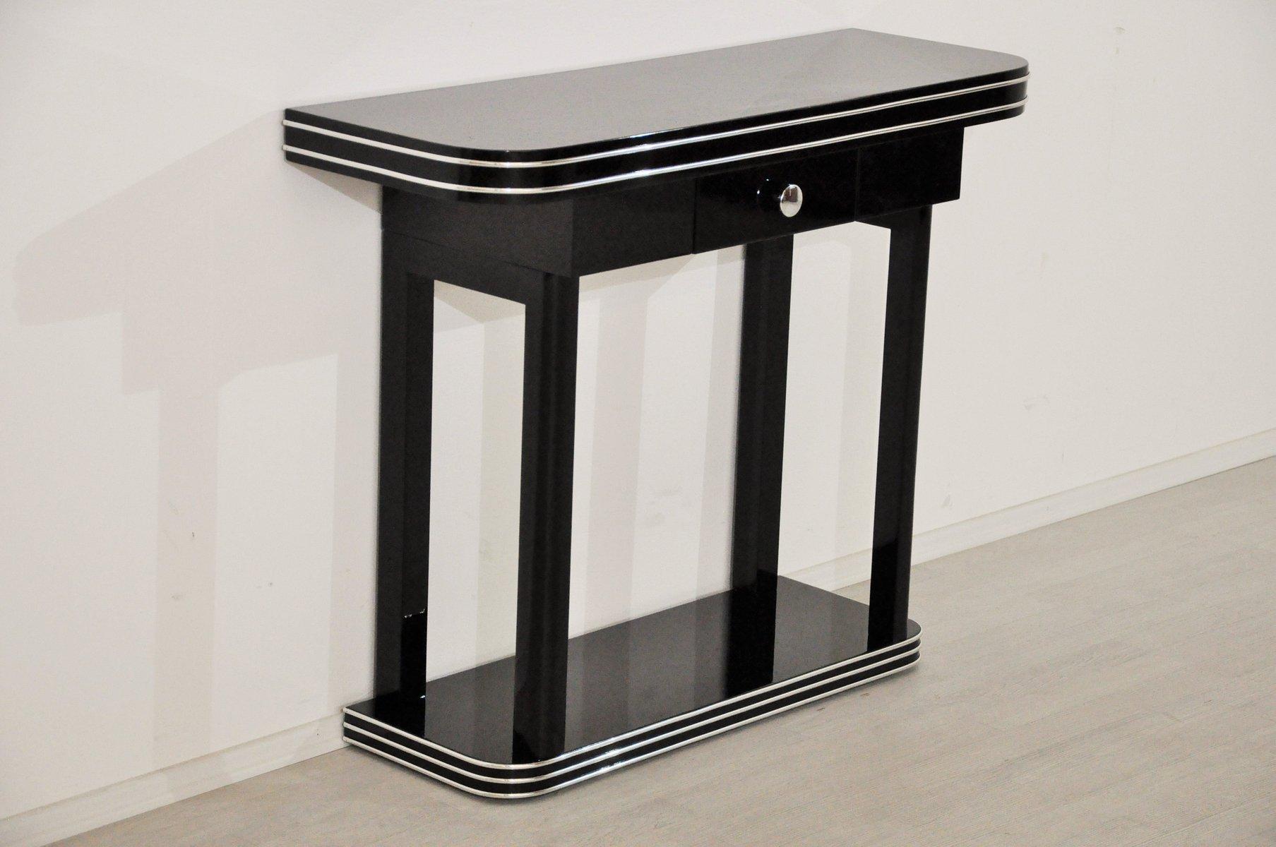 art deco konsole mit schublade 1920er bei pamono kaufen. Black Bedroom Furniture Sets. Home Design Ideas