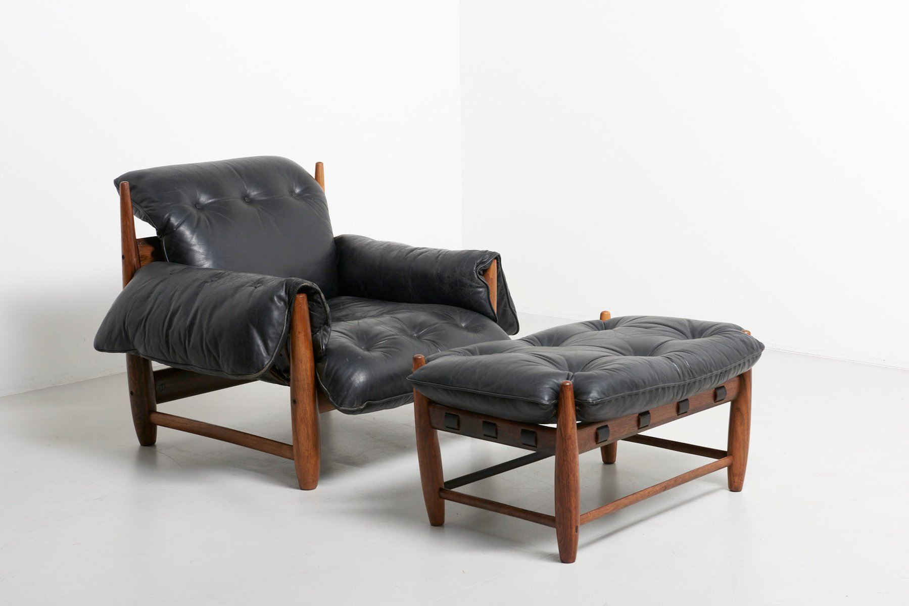 Attrayant Poltrona Mole Chair With Ottoman By Sergio Rodrigues, 1950s