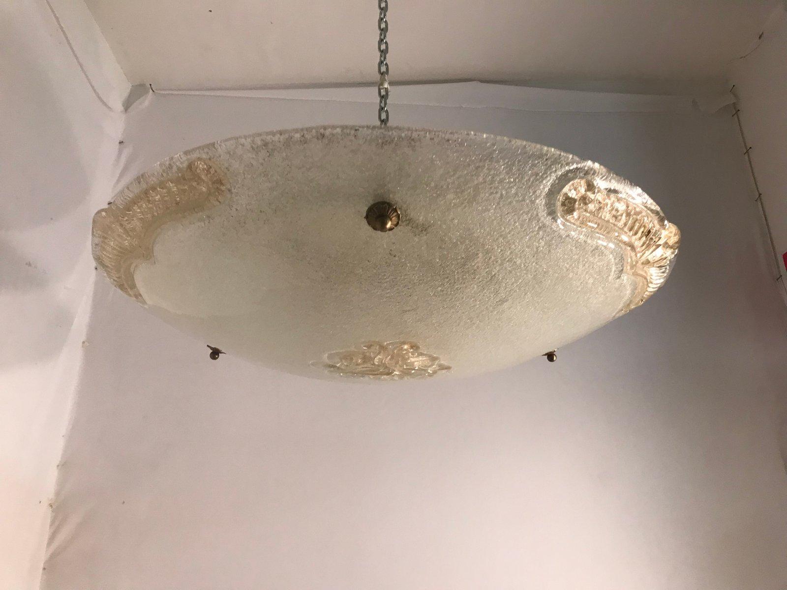 Mid-Century Murano Glas Deckenleuchte