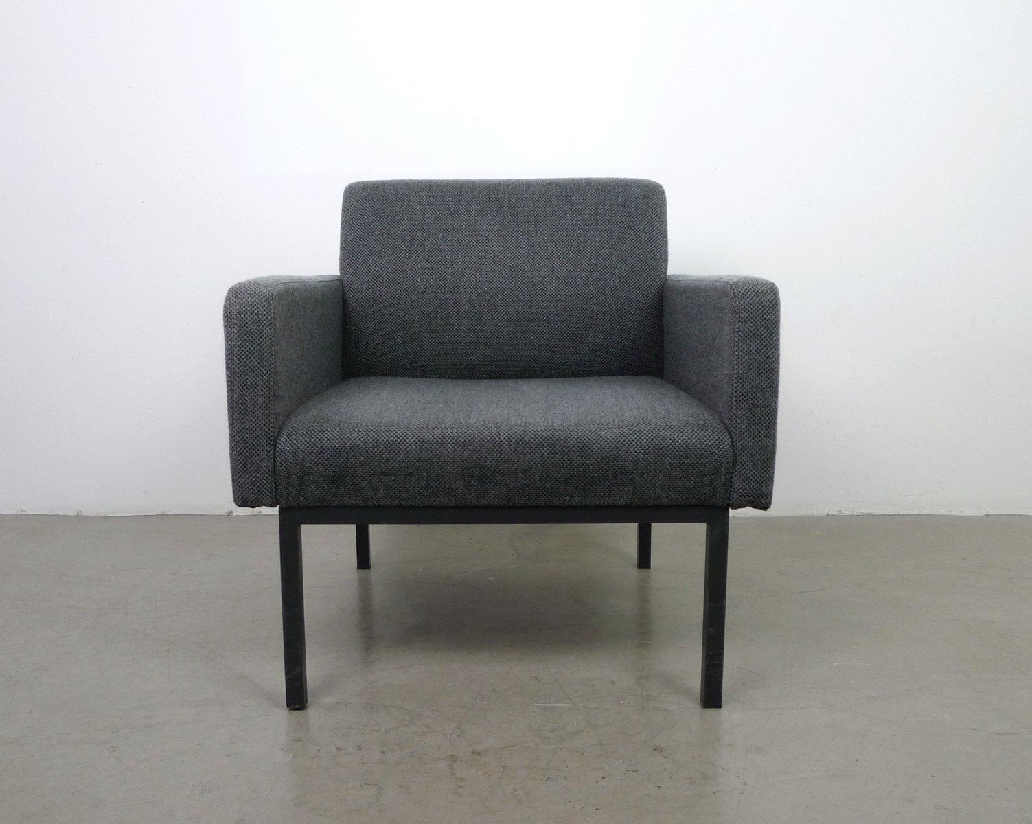 Deutscher Sessel in grauer Wolle von Fröscher, 1960er
