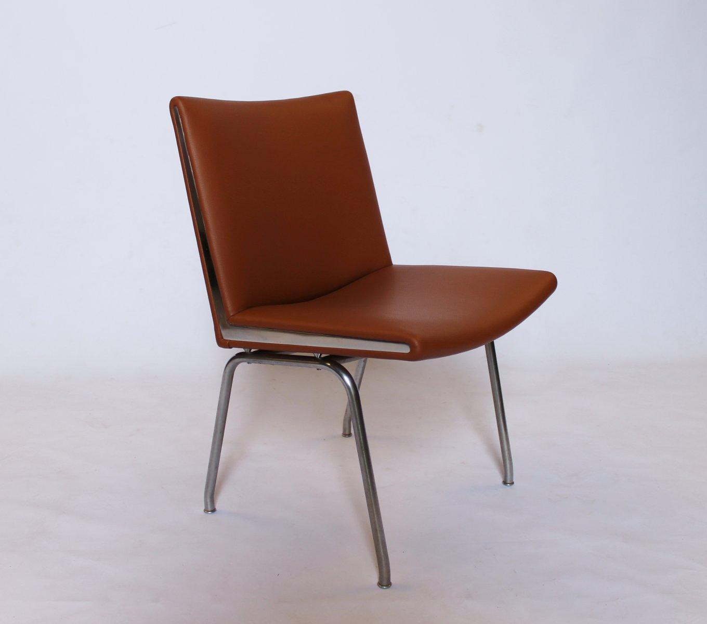 AP37 Airport Stühle von Hans J. Wegner für A.P. Stolen, 1950er, 4er Se...