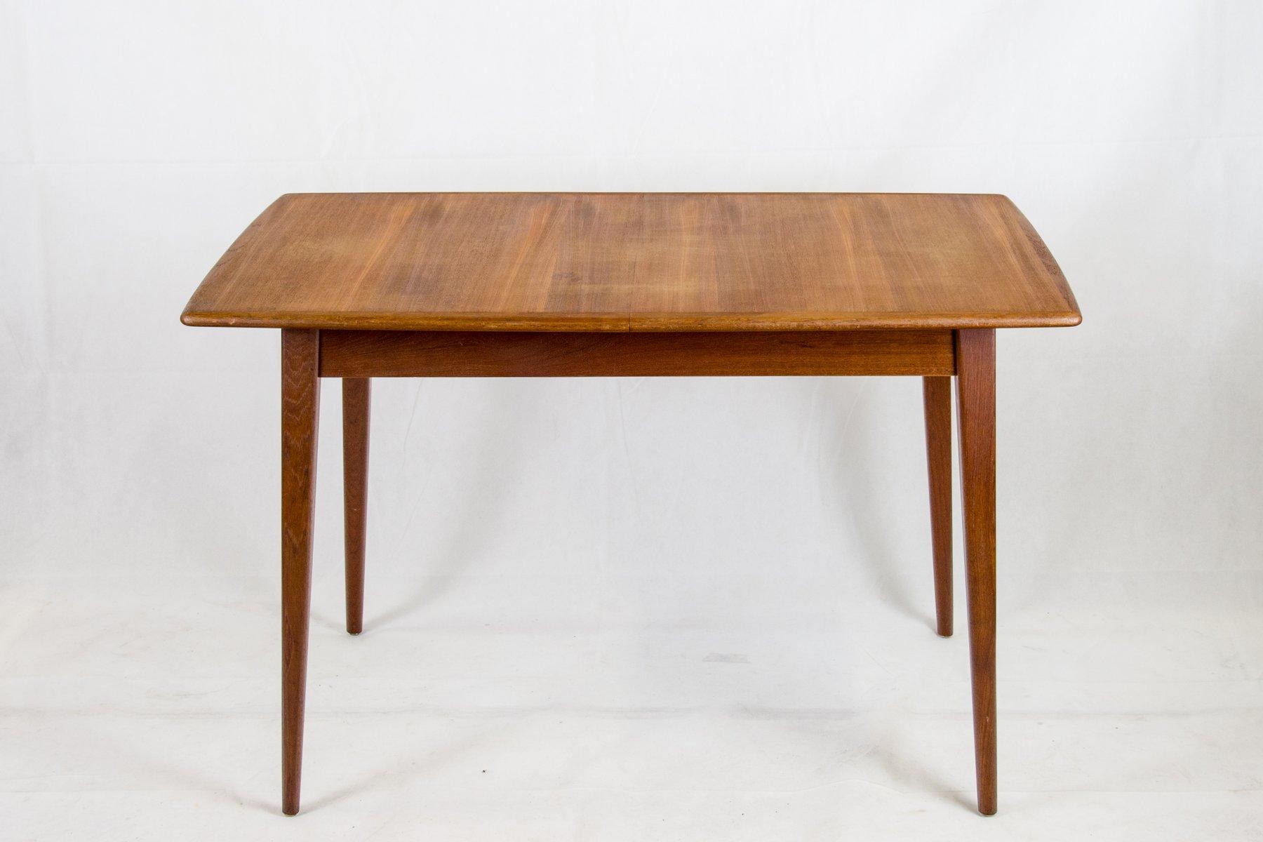 Mesa de comedor vintage de teca de Hainke Patenttische en venta en ...