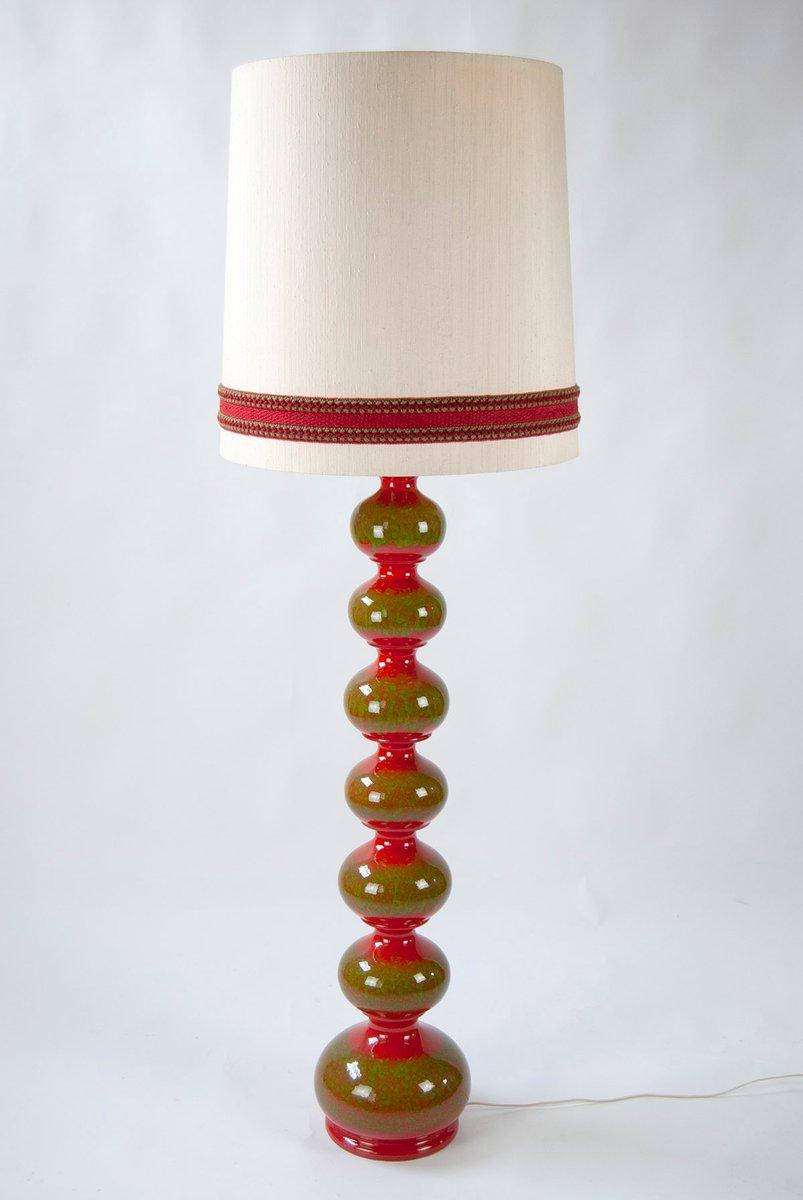 Vintage Keramik Standleuchte von Kaiser Leuchten
