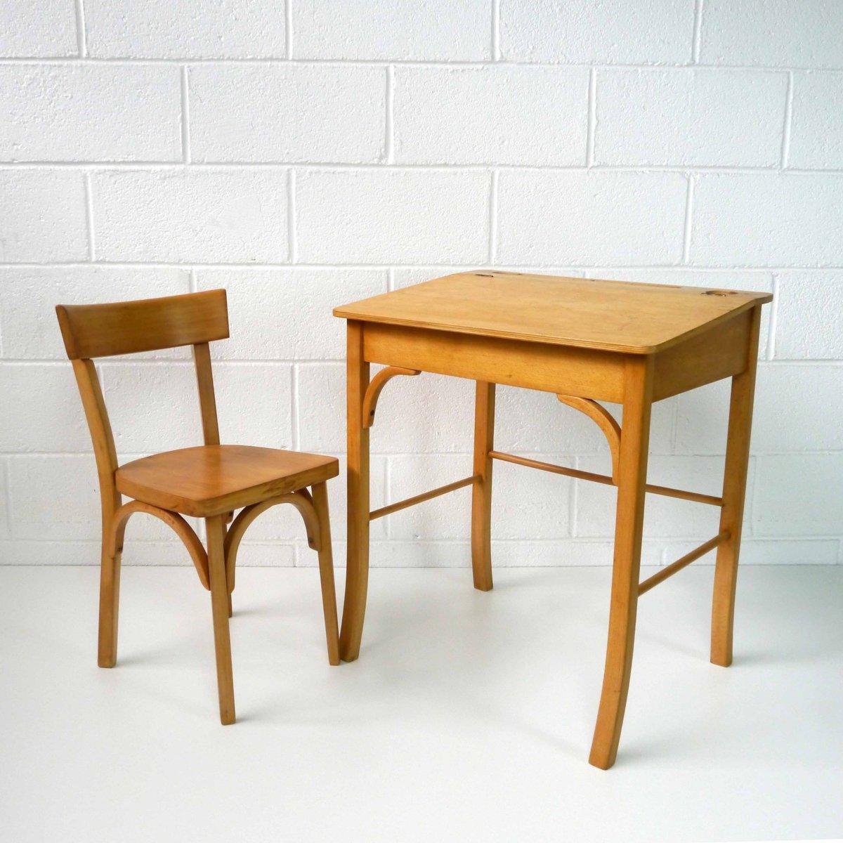 kinder schreibtisch mit stuhl von baumann 1960er bei pamono kaufen. Black Bedroom Furniture Sets. Home Design Ideas