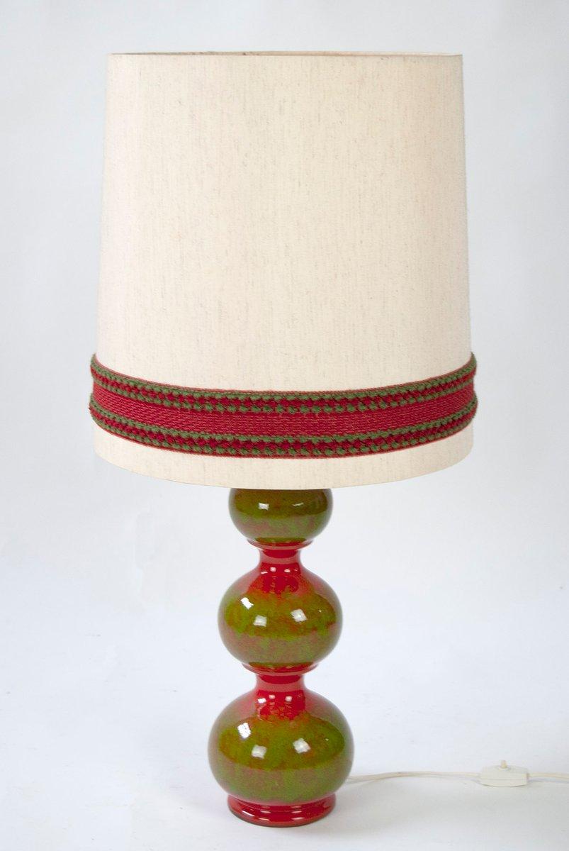 Vintage Keramik Tischlampe von Kaiser Leuchten