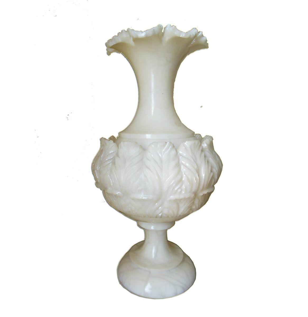Weiße Vintage Alabasterlampe