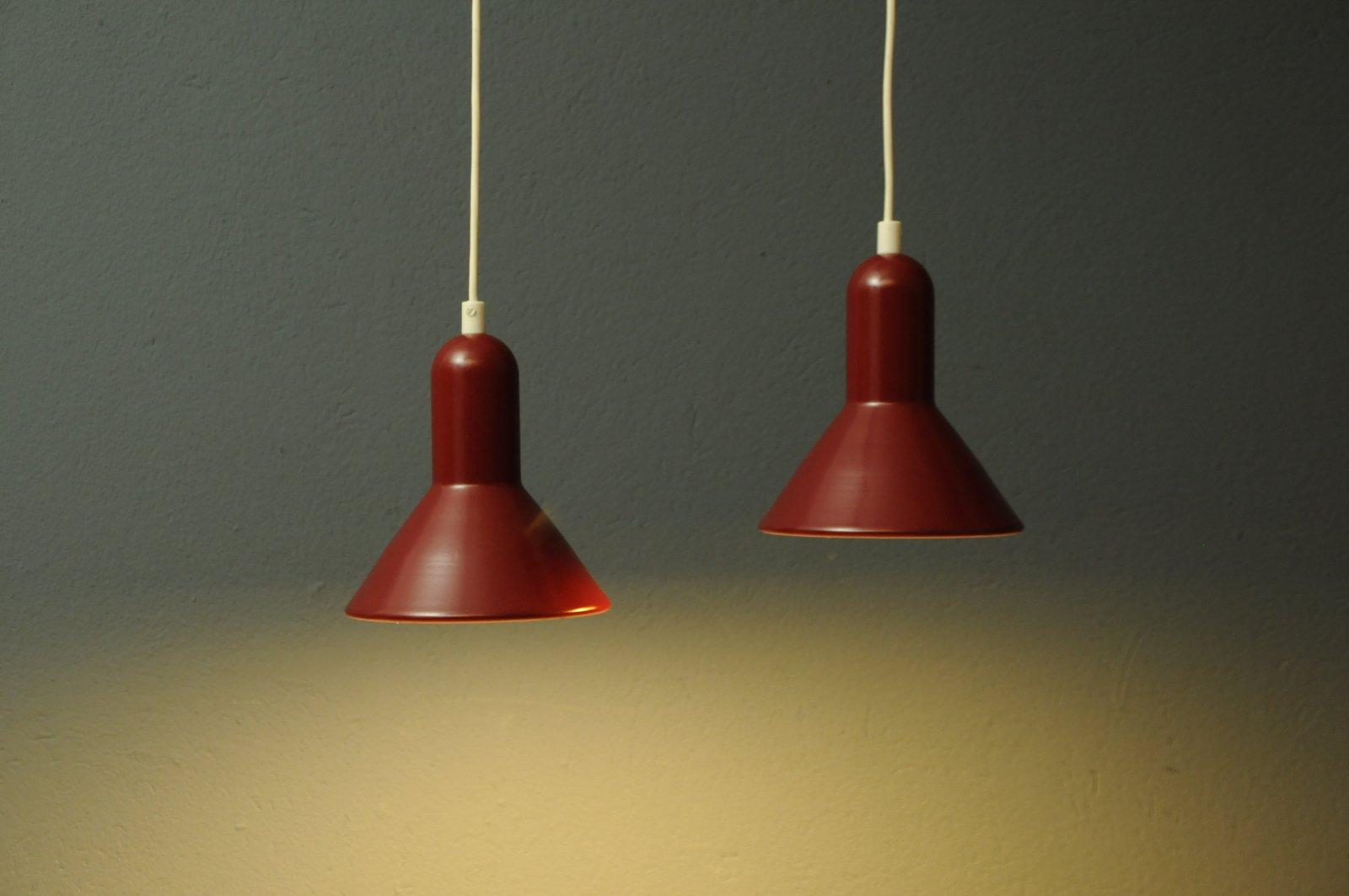 Dänische Hängelampen von Lyfa, 1960er, 2er Set