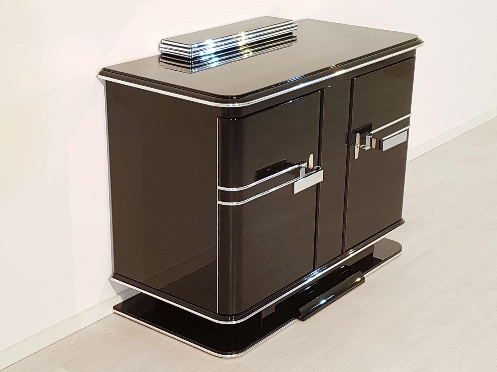 art deco kommode mit gr nem innenbereich 1920er bei pamono kaufen. Black Bedroom Furniture Sets. Home Design Ideas