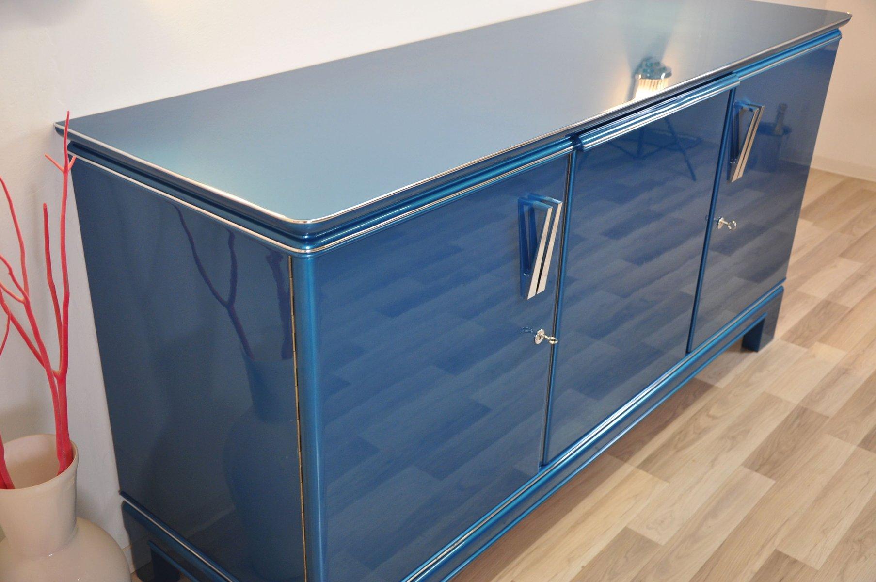 Credenza vintage blu, anni \'40 in vendita su Pamono