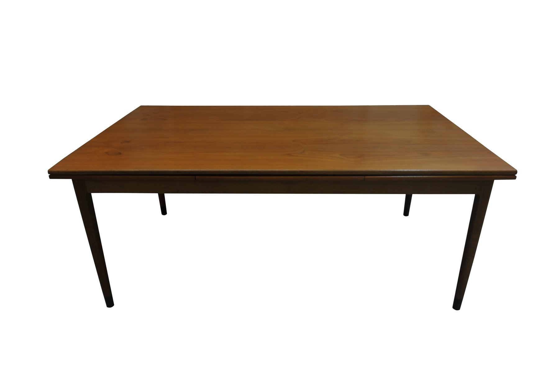 Vintage Teak Extendable Dining Table With Black Feet By Niels Otto