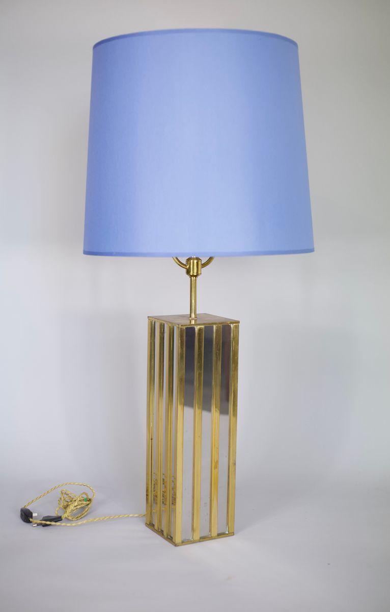 Modell Building Lampe aus Messing und verchromtem Stahl von Jacques Ch...