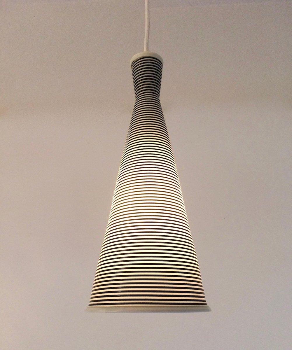 Französische Black & White Deckenlampe von Yasha Heifetz für Rotaflex,...