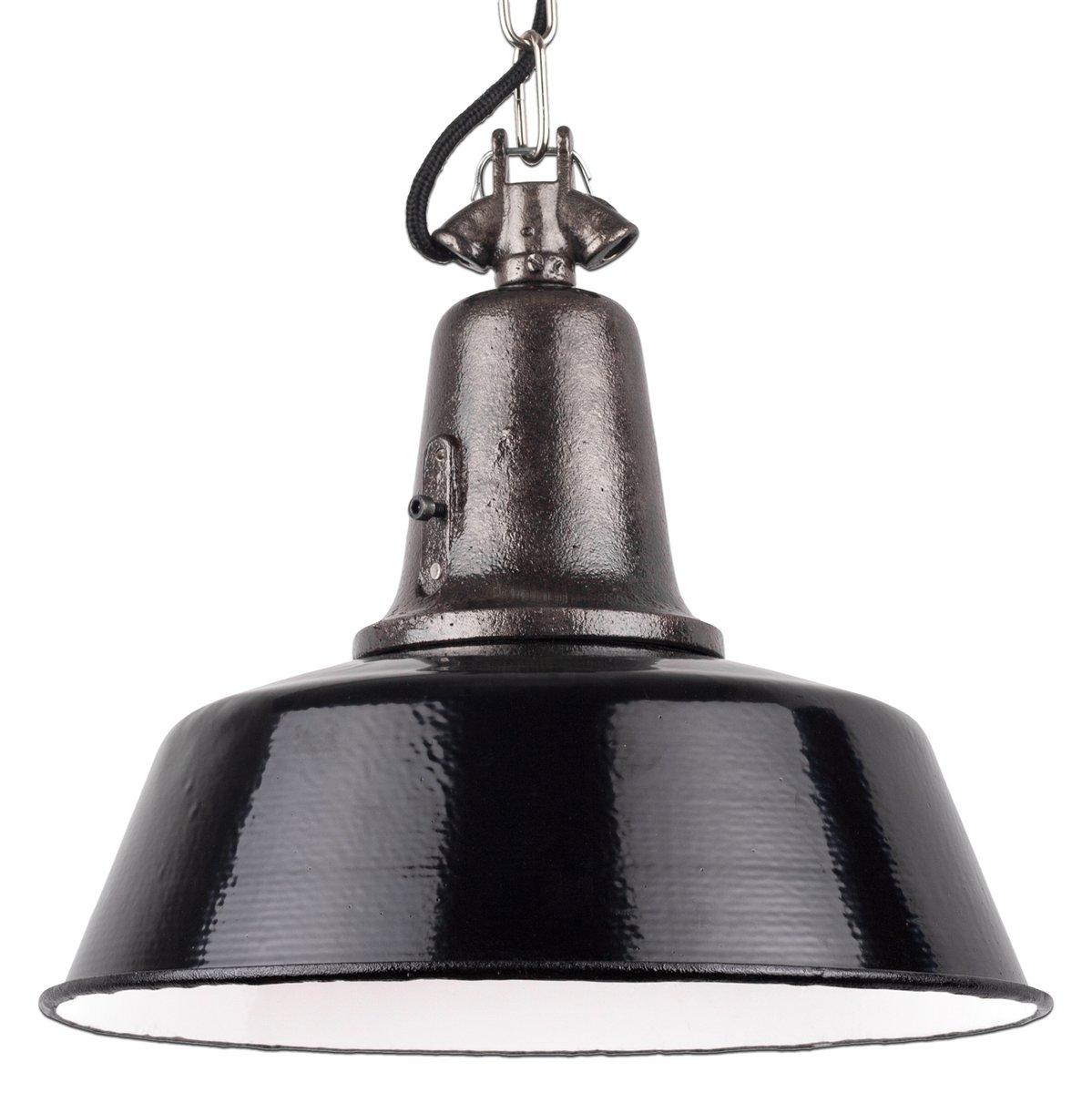 lampe suspension vintage industriel en fonte noir en. Black Bedroom Furniture Sets. Home Design Ideas