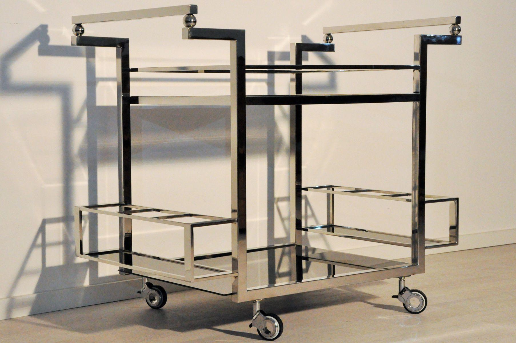 schwarzer art deco servierwagen 1930er bei pamono kaufen. Black Bedroom Furniture Sets. Home Design Ideas