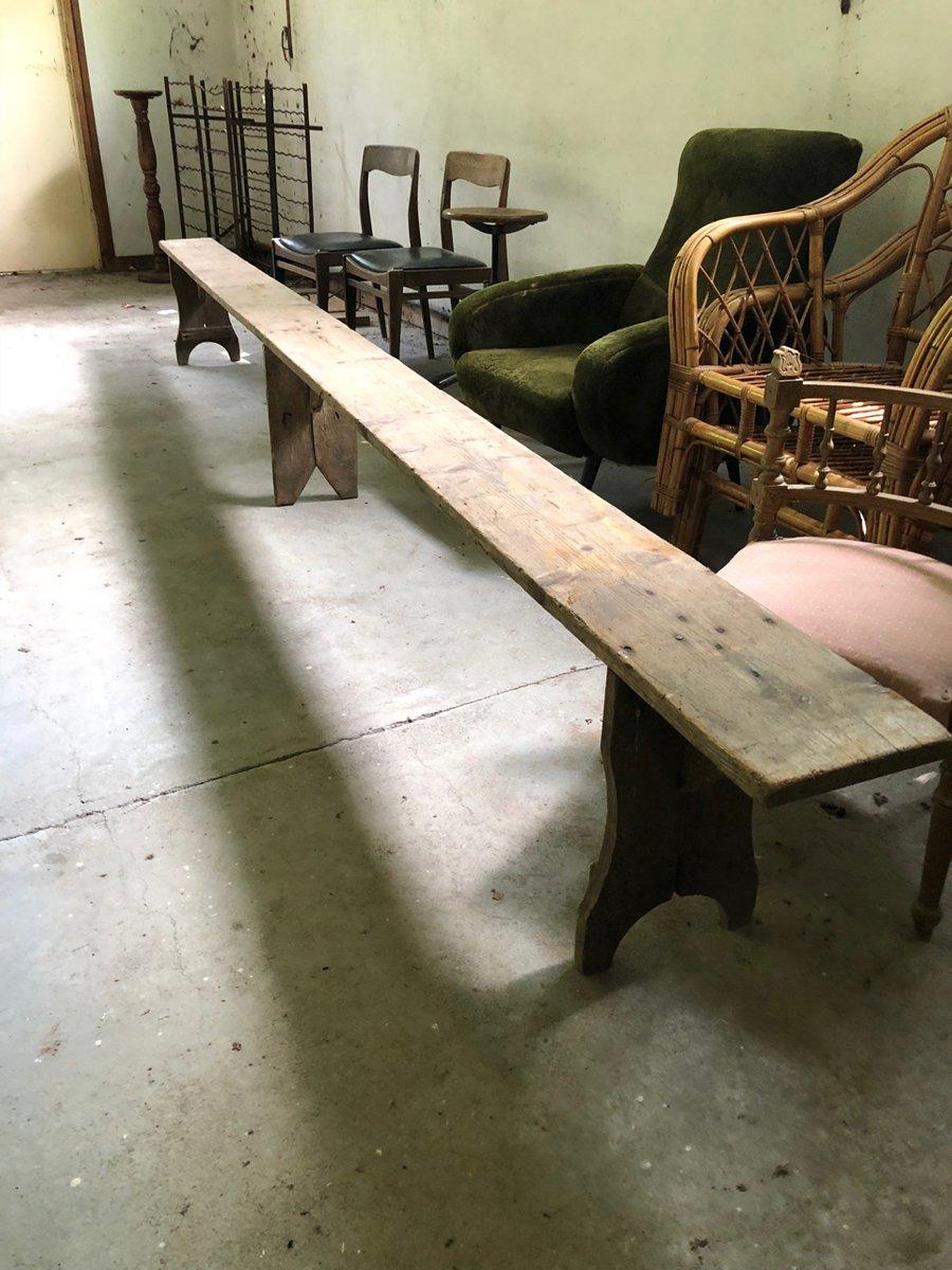 Französische Vintage Holzbank