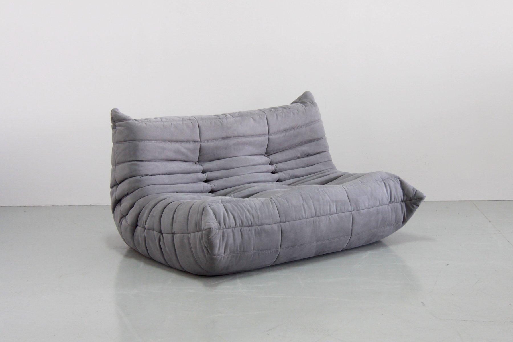 graue togo sitzgruppe von michel ducaroy f r ligne roset 1979 bei pamono kaufen. Black Bedroom Furniture Sets. Home Design Ideas