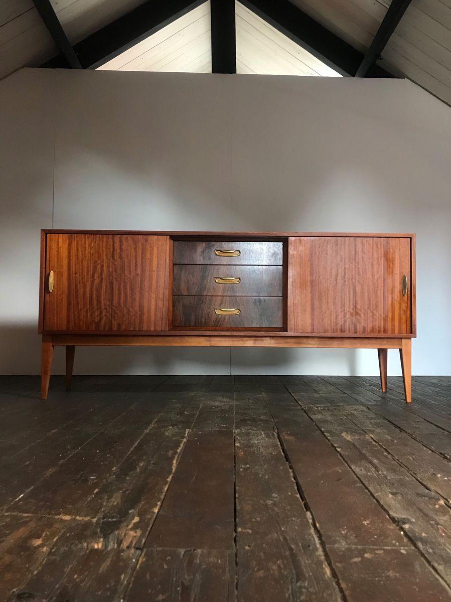 Mid-Century Palisander & Walnuss Sideboard von Herbert Gibbs