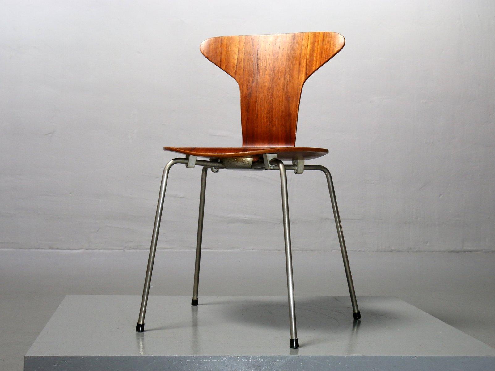 3105 mosquito stuhl aus teak von arne jacobsen f r fritz hansen bei pamono kaufen. Black Bedroom Furniture Sets. Home Design Ideas