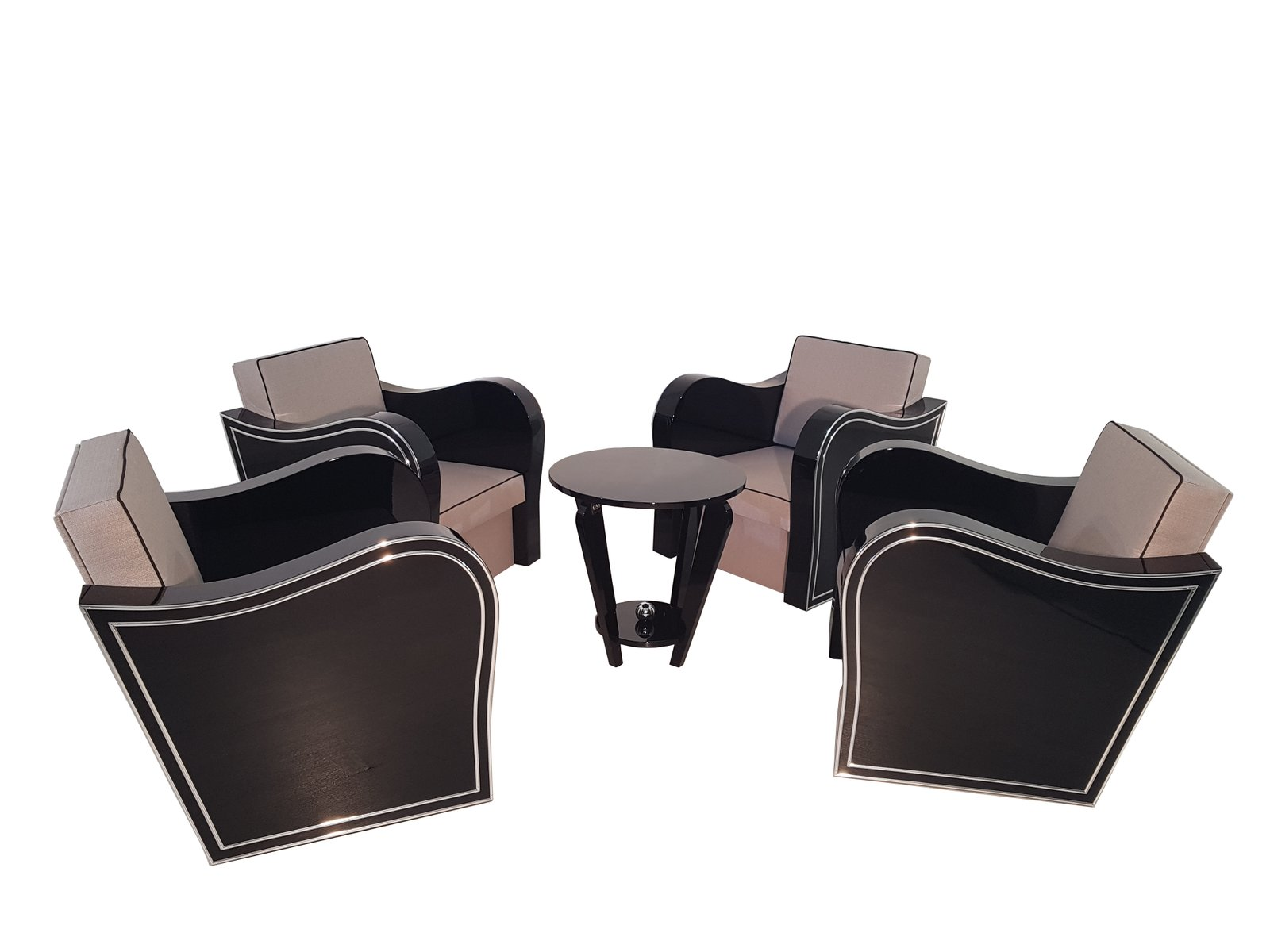 Art Deco Sessel, 1920er, 4er Set