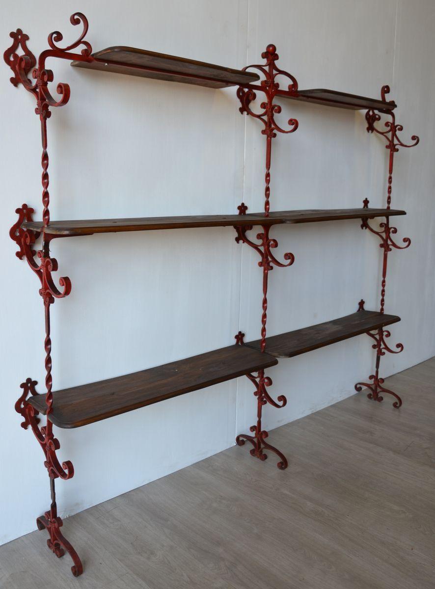 Libreria grande vintage in ferro battuto in vendita su Pamono