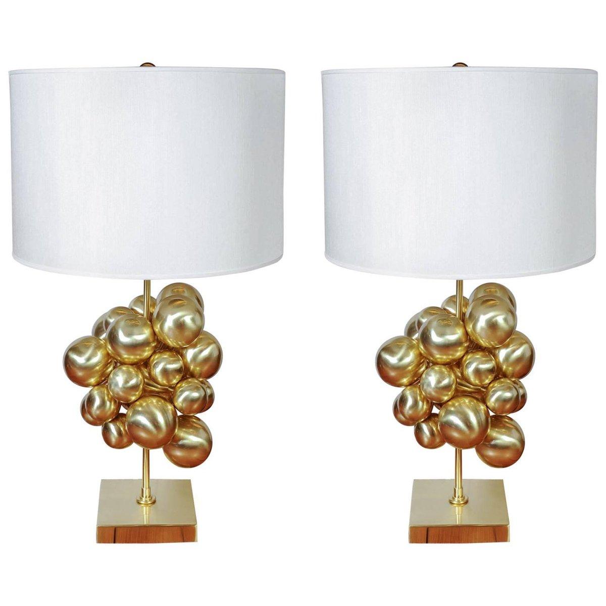 Tischlampen aus Messing mit vielen Schirmen von Glustin Luminaires, 20...
