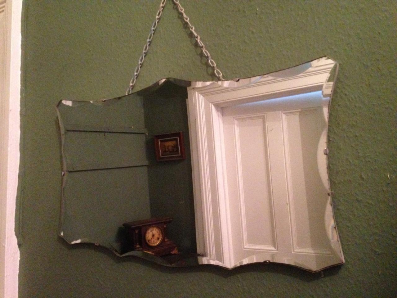 Art Deco Spiegel : Abgeschrägter art deco spiegel bei pamono kaufen