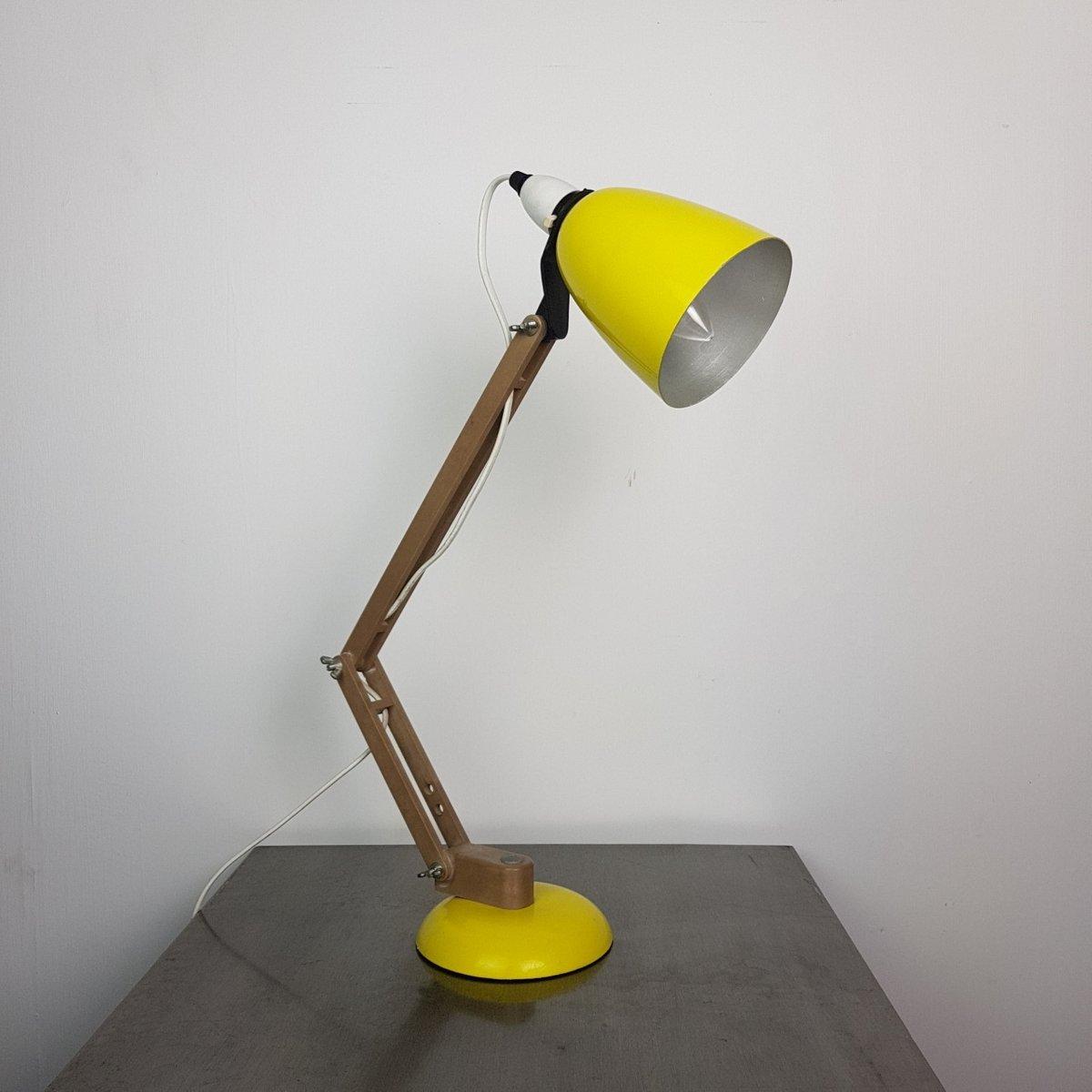 Gelbe Maclamp Schreibtischlampe von Terence Conran für Habitat, 1950er